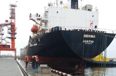 """Новий морський термінал """"Євровнєшторг"""", розташований у Корабельному районі, обробив перше судно"""