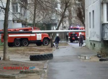 пожар в подвале дома по пр. Корабелов