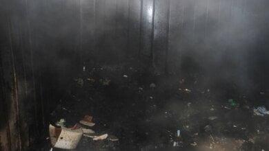 Во время пожара в Витовском районе погиб мужчина   Корабелов.ИНФО