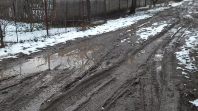 грязь на дороге в Широкой Балке