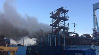 На заводе Новинского в Николаеве горел буксир   Корабелов.ИНФО image 1