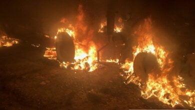 «Спланированное уничтожение бизнеса», - под Николаевом бандиты избили охрану сельхозпредприятия и сожгли технику | Корабелов.ИНФО image 1