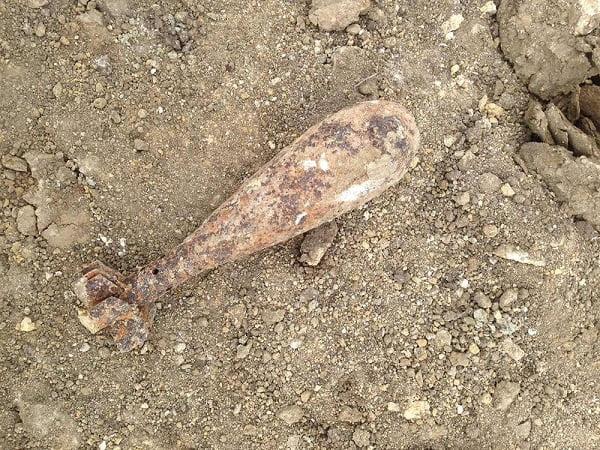 Photo of Во время проведения земляных работ в Витовском районе нашли минометную мину
