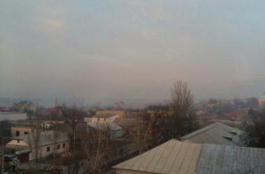 дым костров над Корабельным районом