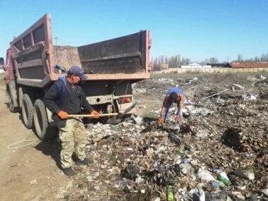 вывоз мусора со свалки