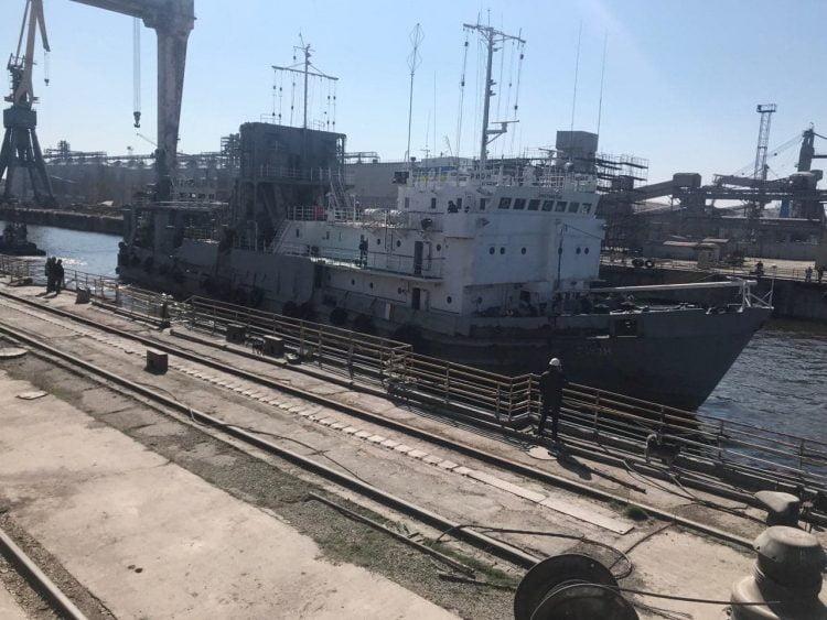 """Завод""""Океан"""": заход судна на ремонт"""