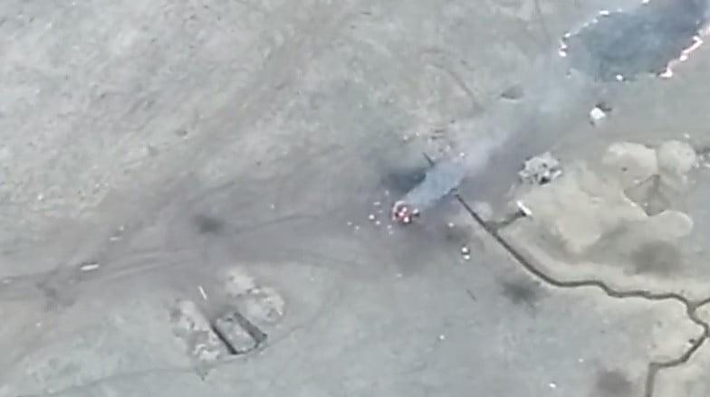 Офицер ВСУ продемонстрировал новое видео смертоносного удара побоевикам наДонбассе