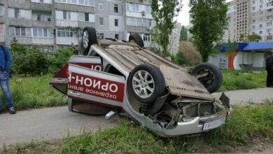В Николаеве перевернулся автомобиль охранной фирмы — водитель в больнице   Корабелов.ИНФО image 1