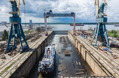 "завод ""Океан"", спуск судна на воду (фото Григория Веприк, The Gate Agency)"