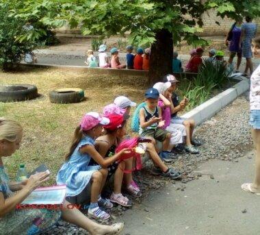 эвакуированные из детсада дети (21.06.2019)