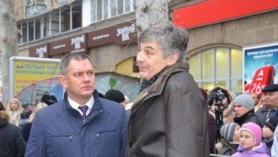 "Борис Козырь и Александр Жолобецкий (фото ""Новости-Н"")"