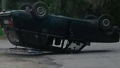 Photo of ДТП с пострадавшим: возле НГЗ автомобиль перевернулся на крышу