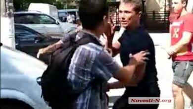 Photo of В Николаеве во время визита Саакашвили избили сторонников Шария