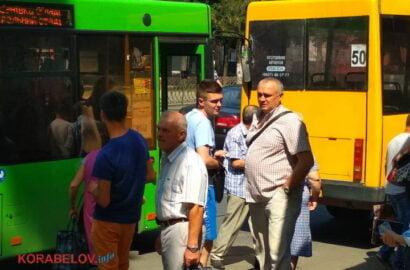 """Новый городской автобус врезался в """"маршрутку"""" в Корабельном районе   Корабелов.ИНФО image 1"""