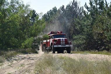 Пожар в Балабановском лесу