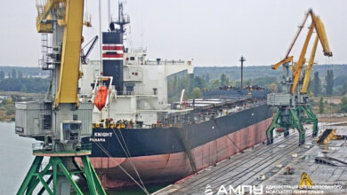 Photo of В порту «Ольвия» приняли крупногабаритное «судно-великан» из Панамы