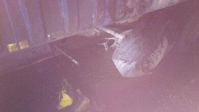 Ночью в Корабельном районе горел прицеп седельного тягача с грузом рапса | Корабелов.ИНФО