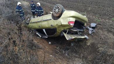 В Витовском районе «Daewoo» слетел с дороги и перевернулся – пострадала пассажирка   Корабелов.ИНФО
