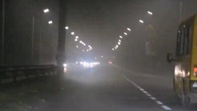 11 ноября Корабельный район окутал сильный туман (видео)   Корабелов.ИНФО