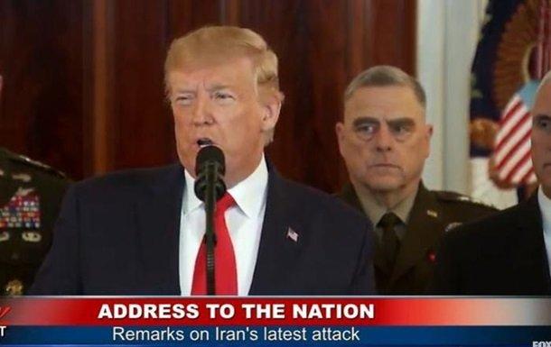 Photo of «Похоже, Иран отступил, это хорошо для всего мира», — Трамп обратился к нации после иранских обстрелов