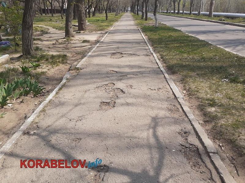 разбитый тротуар по ул. Новостройной