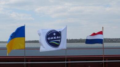 """отправка барж с """"Океана"""" в Нидерланды"""