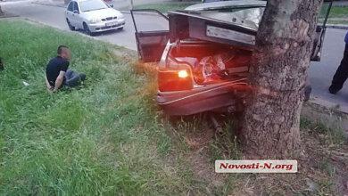 В Николаеве вор, убегая на «Мазде» от погони, врезался в дерево | Корабелов.ИНФО