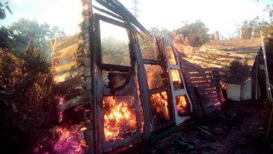 Пожежа в Корабельному районі: вогонь знищив дачну споруду   Корабелов.ИНФО image 1