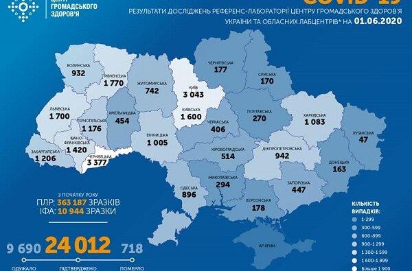 В Украине - 340 новых случаев коронавируса. В стране уже – 24 012 заболевших   Корабелов.ИНФО