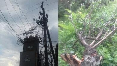 Photo of Из-за низко летевшего самолета в селе Лиманы оборвало электросеть