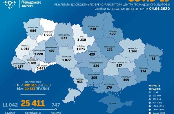 В Украине — 588 новых случаев коронавируса. Число заболевших превысило 25 тысяч | Корабелов.ИНФО