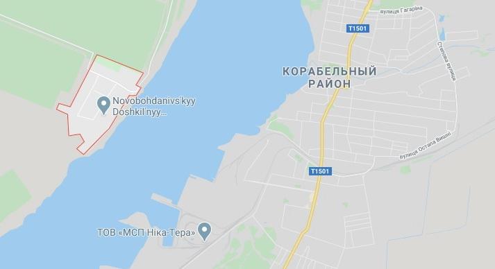 Новобогдановка расположена напротив Корабельного района