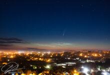 """Photo of """"Кто рано встает - тот наблюдает хвостатую гостью..."""" Ночью над Николаевом пролетала комета. ФОТО"""
