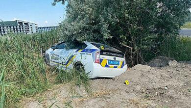 В Коблево полицейский Prius слетел в кювет — пострадал патрульный | Корабелов.ИНФО image 1