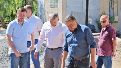 "Сенкевич и Цуканов в сквере ""Витовский"""