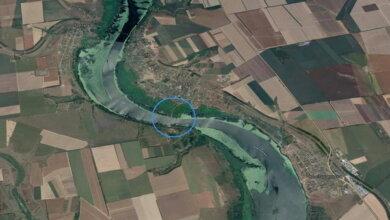 узкое место реки у Гурьевки