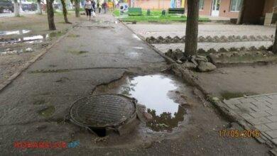 пр. Богоявленский: тротуар в ямах