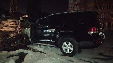 Photo of В Николаеве неизвестные сожгли автомобиль главарю «банды Апти»