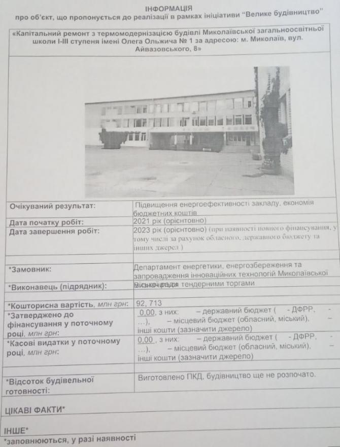 проект термосанации школа 1