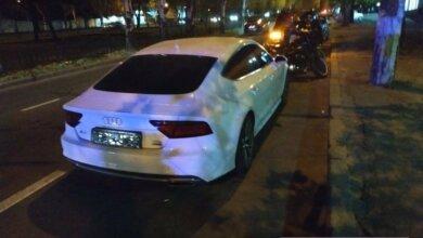 В Николаеве автомобиль «Ауди» сбил на переходе пешехода с собакой (видео)   Корабелов.ИНФО