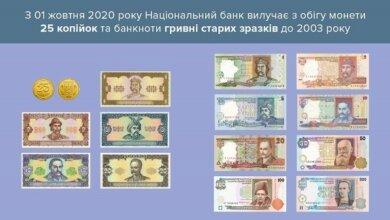 Photo of Сегодня перестали принимать монеты номиналом 25 копеек и гривны старого образца