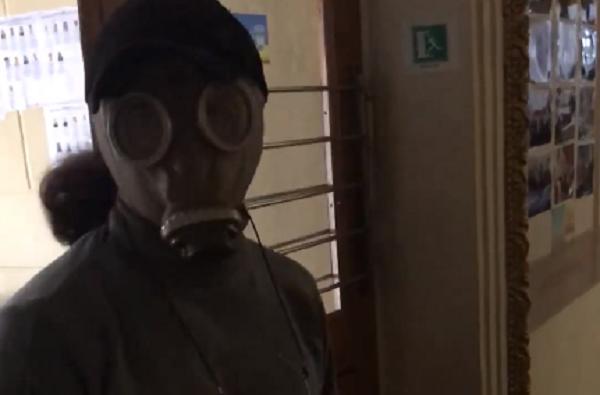 Решил обезопасить себя от вируса: в Корабельном районе избиратель пришел голосовать в противогазе (Видео) | Корабелов.ИНФО