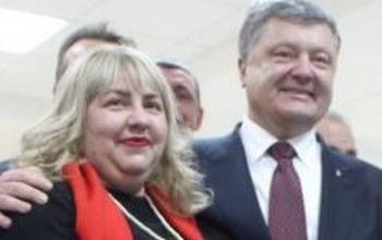 Надежда Иванова и Петр Порошенко