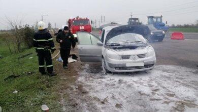 Photo of На трассе в Витовском районе на ходу загорелся Renault Megane