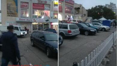 """стихийная парковка у """"Простора"""""""