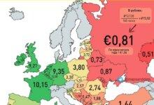 Photo of Украина обогнала Россию и Беларусь по уровню минимальной зарплаты в пересчете на евро