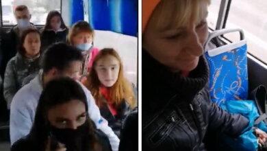 пассажиры маршрутки без масок