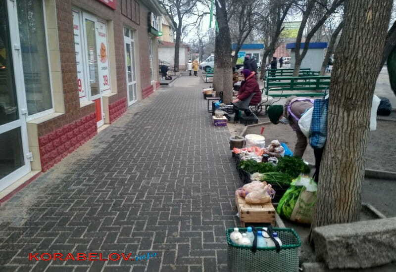 стихийная торговля по пр. Богоявленскому, 311