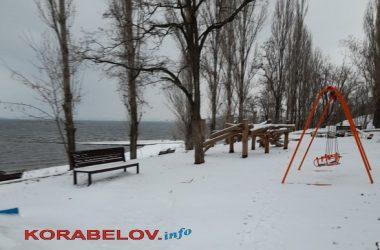 """пляж """"Чайка"""" в Николаеве, январь-2021-"""