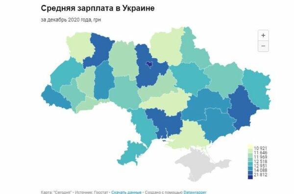 Николаевская область - в тройке лидеров по уровню средней зарплаты: 14,6 тыс. грн   Корабелов.ИНФО